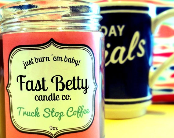 Coffee | Soy candle | scented candle | truck stop coffee | handmade | small batch | gift for her| kitchen candle