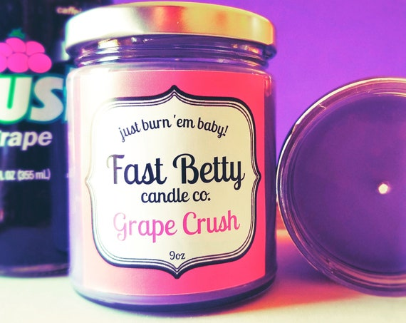 GRAPE SODA candle  | soy candle| summer candle | grape crush | grape scented | grape candle | fast betty |