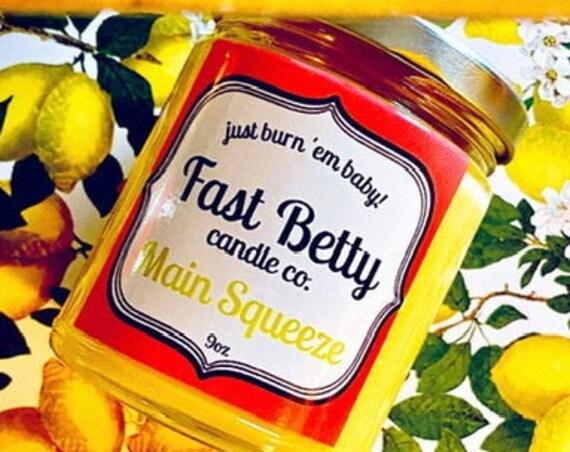 Lemon Verbena | Soy Candle | Bright Lemon | Kitchen Lemon | Main Squeeze | Citrus | Essential oils