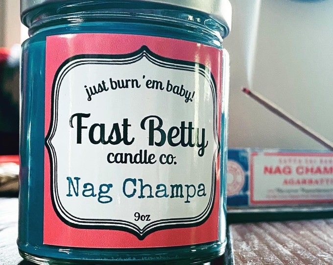 Nag Champa | Soy candle | incense | hippie candle | earthy gifts