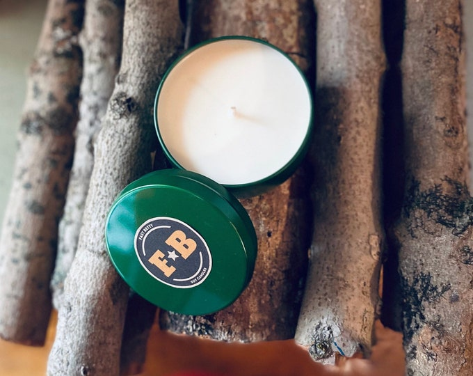 8 0Z WILDERNESS WOMAN | soy candle | CANDLE | fireside | cedar | campfire | Cabin | Woods | scented soy candle