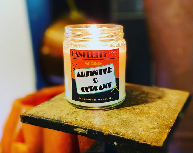 ABSINTHE & CURRANT | 9oz soy candle | Halloween candle | fall candle | vegan | witch | gothic home