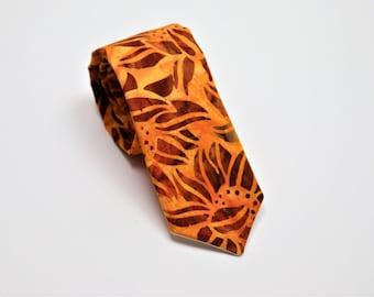 Orange Sunflower Necktie
