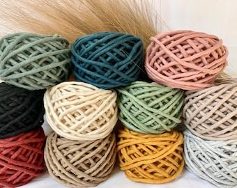 5mm Single Twist Cotton Macrame Cord | Macrame String | DIY Macrame | Macrame Rope | 100% Cotton | Recycled Cotton | Weaving