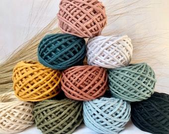 3mm Single Strand Cotton Macrame Cord | Macrame String | DIY Macrame | Macrame Rope | 100% Cotton | Recycled Cotton | Weaving