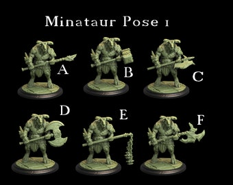 Tytan Troll Miniatures - Minotaurs Pack 1