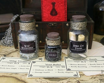 Alchemy Set Wisp Wrappings Potion Ingredients Sabre Cat Tooth Void Salts