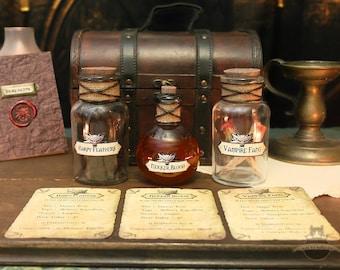 Alchemy Set Potion Ingredients Nekker Blood Harpy Feathers Vampire Fang