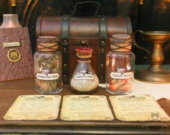 Alchemy Set Potion Ingredients Gargoyle Dust Vampire Werewolf Hide Foglet Teeth Geralt of Rivia