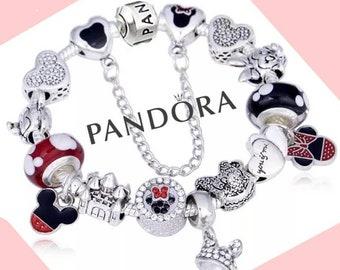 Disney pandora bracelet | Etsy