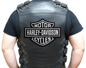 Set of 4 small Harley-Davidson logo Embroidered Biker Patch Iron on//Sew on #s3
