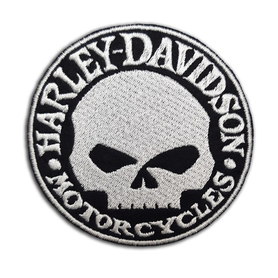 Harley-Davidson logo small red color Embroidered Biker Patch Iron on//Sew on b035