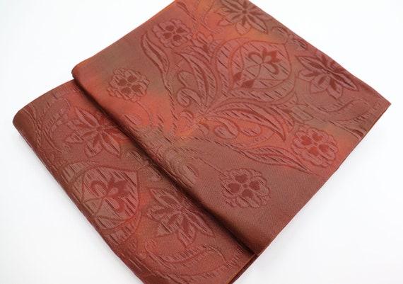 Pure Silk Japanese Kimono Obi belt / Fukuroobi / K