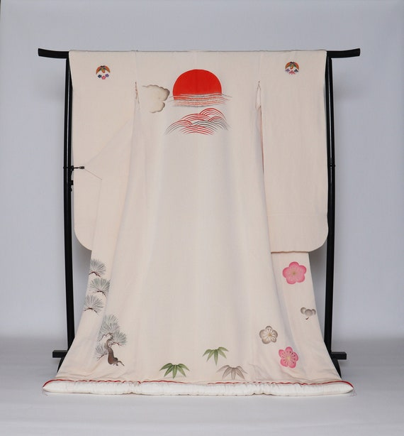 White Uchikake Kimono, Wedding Kimono, Japanese Ki