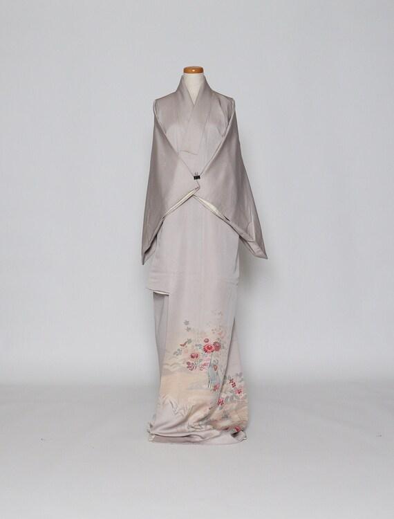 pure silk kimono  vintage Japanese kimono  casual kimono  kimono robe  kimono dress  houmingi kimono