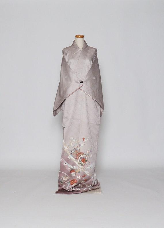 informal kimono / vintage Japanese kimono / casual