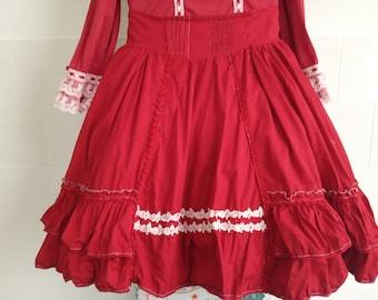 Red underbust Lolita skirt