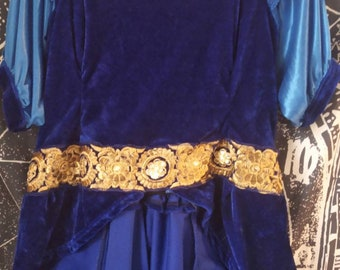 """medieval satin and velveteen blouse """"Hypnos"""""""