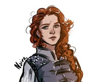 DnD digital sketch, digital painting sketch, Custom character  D&D, DnD Commission, RPG Character Portrait,