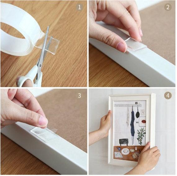 Transparent Magic Nano Tape Washable Reusable Double-Sided Tape Adhesive Nano-No