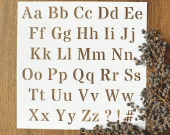 Large Stainless Steel 1 inch Alphabet Upper Case Embossing//Pyrography Stencil