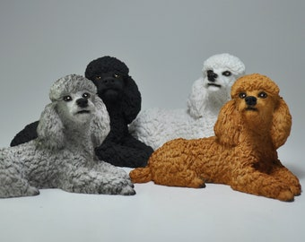 Poodle Figurine Etsy