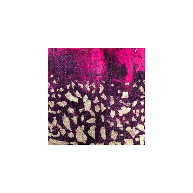 Small abstract pink painting image 0