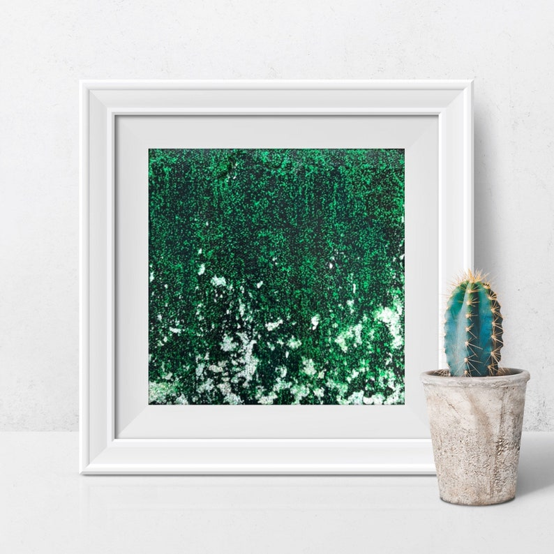 Green and black glitter silver small painting image 0