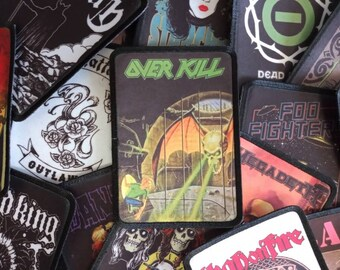 """OVERKILL Bat Sew On Iron On Embroidered Patch 3.9/""""x3.1/"""""""