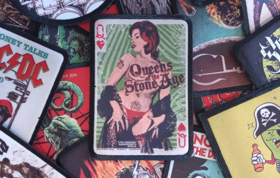 Band rock stoner desert grunge grohl jacket accessories kyuss fu Manchu Queens of the stone age sew on patch