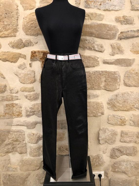 Jean Claude Jitrois leather jeans