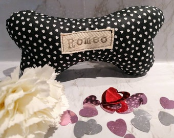 Personalised dog toy with squeak. Puppy gift. Handmade