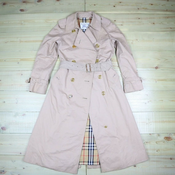 Burberry Womens Trench Coat Beige Nova Check Vinta