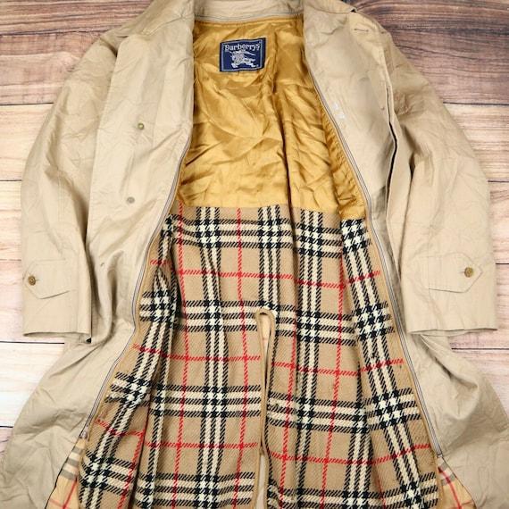 Burberry Trench Coat Beige Nova Check Mac Trench C
