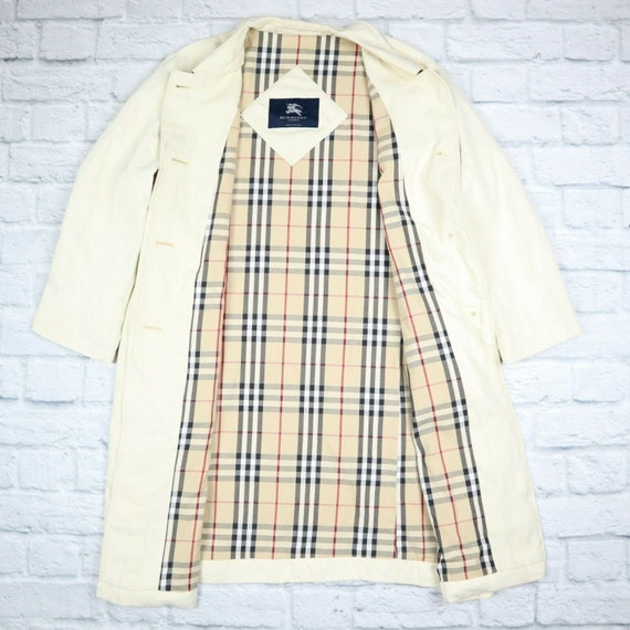 Burberry London Trench Coat Beige Nova Check Mac T