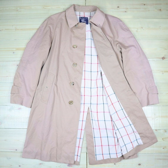 Burberry Trench Coat Beige Nova Check Vintage Mac
