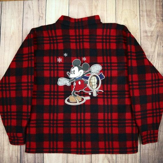 Mens Vintage Disney Fleece Jacket Mickie Mouse Pri