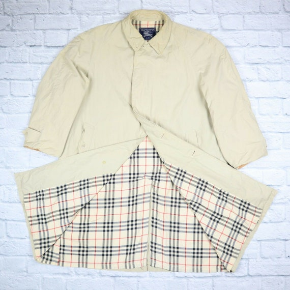 Burberry Trench Coat Beige Nova Check Mac Trench C