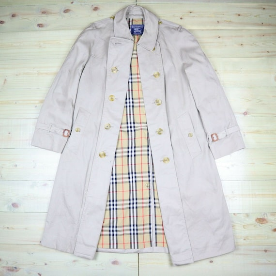 Burberry Trench Coat Size 52 Reg Beige Nova Check
