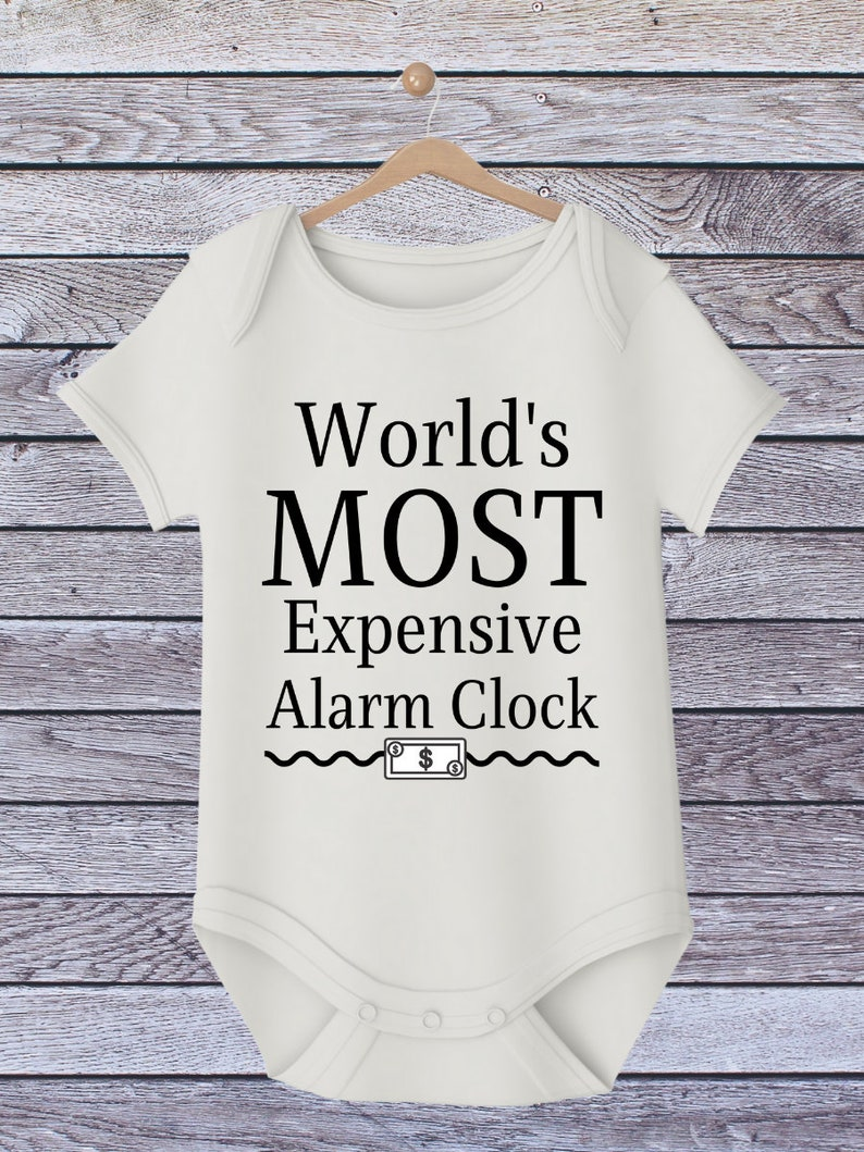Onesie Iron on World/'s Most Expensive Alarm Clock