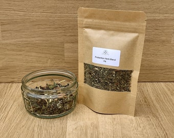 Protection Witches Herbs 20g, dried herbs, flowers, spices, spell work, witch, wiccan, pagan, wicca, cleansing, healing,