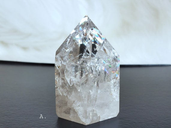 Clear Crackle Quartz | A Grade & FULL of Rainbows!