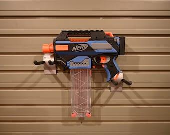 Nerf Full-Auto Mac-11 Machine Pistol (Black, Blue and Gray)