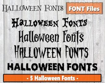 Halloween Fonts - Halloween Font Bundle - Scary Font Text - Halloween Alphabet - Halloween Downloads