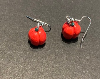 Hand Crafted Red Pepper Earrings