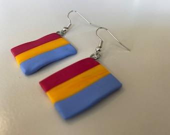 Pan dangle earrings