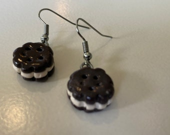 Hand Crafted Ice cream Sandwich Earrings