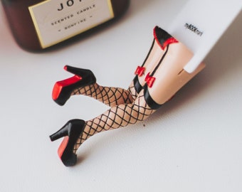 Sexy Bookmark Fishnets Cabaret Anniversary Gift for Wife Girlfriend Birthday Gift Bookmark for Her Sexy Gifts Funny Creative Bookmark