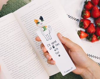 Beautiful Bookmark Animal Bookmarks for Children Funny Cat Lover Gift Kids Nerdy Cute Book mark Gift