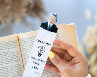 Book Accessories Office Bookmarks Albert Einstein Bookmark Teacher Gift Personalized Bookmark for Teacher Handmade Bookmark Gift Science
